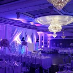 Recent wedding setup, love the blue!