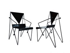 Pair of Iron Armchairs, Mexico, ca 1950