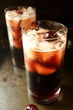 Cherry Infused Bourbon and Coke. Bourbon soaked cherries for real cherry coke flavor in this bourbon and coke