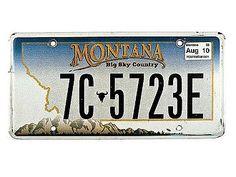 USA Kennzeichen Montana
