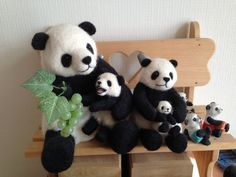 This panda family are in the entrance of my home :)