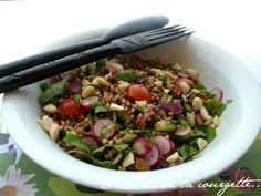 Salade de sarrasin, légumes et magret séché