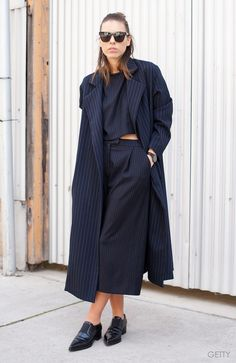 All-black errythang workwear goals, from Kaitlyn Ham at Sydney Fashion Week <3