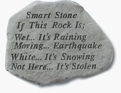 Smart Stone If this Rock is Wet its Raining *** Visit the image link more details.