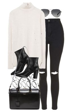 """Untitled #7434"" by nikka-phillips ❤ liked on Polyvore featuring ASOS, Coach, Topshop, Zara and Yves Saint Laurent"