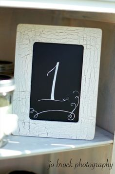 shabby chic table number display (by just kate etc.)