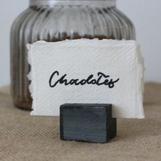 Slate Name Card Table Number Holders – Set of 4