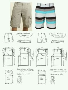 Brilliant Photo of Shorts Sewing Pattern Shorts Sewing Pattern Mens Cargo Shorts Board Shorts . Mens Sewing Patterns, Sewing Men, Pattern Sewing, Fabric Sewing, Baby Sewing, Sewing Shorts, Sewing Clothes, Men Clothes, Paper Clothes