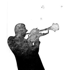 JAZZ TRUMPET (original monoprint) ($271) ❤ liked on Polyvore featuring home, home decor, wall art, white home decor, white wall art, cat wall art, cat home decor and paper wall art