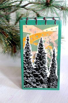 Winter Pines Christmas Notebook/JournalStocking by MiEstrella