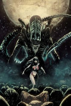 Vampirella vs. Aliens - Gabriel Hardman