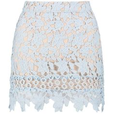 Boohoo Petite Ellie Contrast Lining Crochet Lace Mini Skirt ($40) ❤ liked on Polyvore featuring skirts, mini skirts, crochet lace mini skirt, mini skirt, crochet lace skirts, short mini skirts and petite skirts