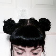 Imagen de girl, hair, and grunge Couleur Ombre Hair, Hair Inspo, Hair Inspiration, About Hair, Dark Hair, Black Hair Bangs, Dyed Black Hair, Black Hair Fringe, Gorgeous Hair