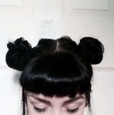 miss my buns, should i cut a fringe? black hair is so damn beautiful & so is her eyebrows & eyelashes