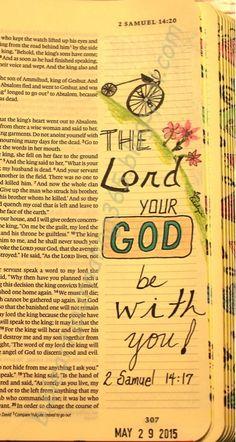 Easy Bible Art Journaling Journey: 2 Samuel 14:17 (May 29th)