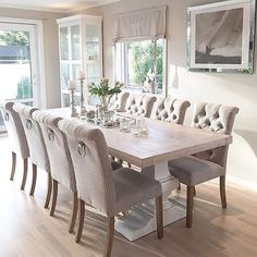 Wohnzimmer – Wohnzimmer – The post Wohnzimmer – Wohnzimmer – appeared first Dining Room Table Decor, Dining Room Sets, Dining Room Design, Dining Room Furniture, Living Room Decor, Dinning Room Ideas, Dinning Table Centerpiece, Tufted Dining Chairs, White Dining Table