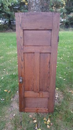Your place to buy and sell all things handmade Oak Cupboard, Antique Cupboard, Cabinet Doors, Old Wood Doors, Salvaged Doors, Architectural Salvage, Panel Doors, Diy Furniture, Solid Wood