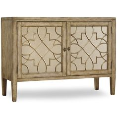 Hooker Furniture 3013-85002 Sanctuary Two Door Mirrored Console in Surf Visage