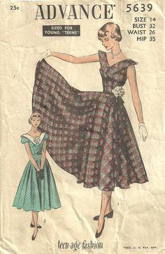 Advance 5639 Vintage 1950s Sewing Pattern Size by studioGpatterns, $12.50