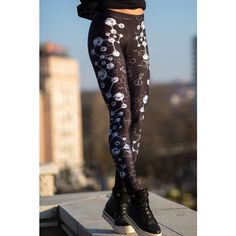 Chemistry Leggings Pastel Goth Leggings Gothic Clothing Sexy Leggings... ($49) ❤ liked on Polyvore featuring pants, leggings, dark olive, women's clothing, sexy stretch pants, stretch leggings, sexy leggings, yoga stretch pants and yoga leggings
