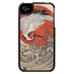 SOLD! - #Isoda #Koryusai #Crane #Waves and #rising #sun #Case For The #iPhone 4 #cover #Japan #japanese #oriental #gift #apple #smartphone #accessories #vintage