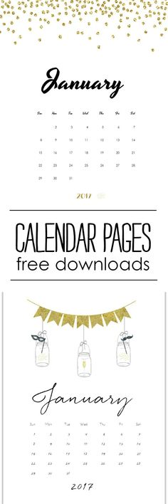 Free Calendar Page Printable for January 2018 January, Office - free office calendar