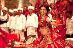 Deepika Padukone in a dance sequence in the movie Ram-Leela