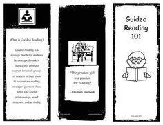 What is Guided Reading?-An Informational Pamphlet for Parents. Great material to hand out on Back to School night or Paren/Teacher Conferences. Great to send home with report cards, too!