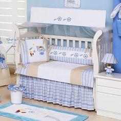 Kit para Berço 3389 com 9 peças, 100% Algodão - Batistela Baby - Batistela Baby com o melhor preço é no Walmart!