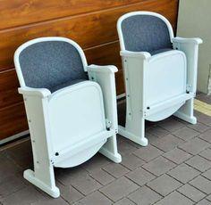 900 zł: Odnowiony przedwojenny fotel kinowy. Wymiary: szer. 55cm, wys. 77cm, gł. 45-65cm. Cena 900zł/szt. Odbiór osobisty - Warszawa Wesoła. tel. 602719002 Proszę o wcześniejszy kontakt w celu potwierdzenia d... Rocking Chair, Bassinet, Furniture, Home Decor, Chair Swing, Baby Crib, Room Decor, Rocker Recliner Chair, Rocking Chairs