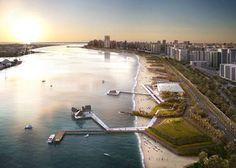 Abu Dhabi Corniche Beach Revitalization, UAE     Martha Schwartz Partners