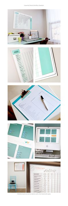 Perfect for the home office to keep track of photo assignments and the duties that come along with them.
