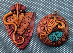 Bronze and Gold Pendants by MandarinMoon on DeviantArt