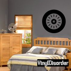 Tire Rim Wall Decal - Vinyl Decal - Car Decal - DC001