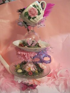 Tip the Tea Cup Centerpiece