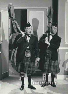 """1962 Actors Toto and Erminio Macario in """"Toto di notte n. 1"""""""
