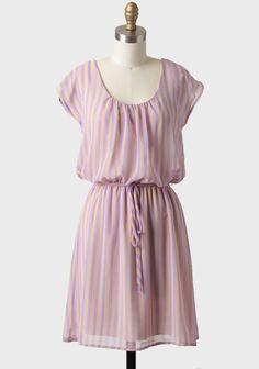 lavender striped chiffon dress
