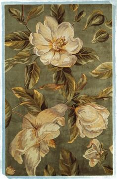 MAGNOLIA FLOWERS ON BEIGE HOME DECOR OUTLET COVER