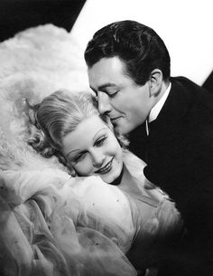 """Jean Harlow and Robert Taylor publicity photo for """"Personal Property,"""" 1937"""