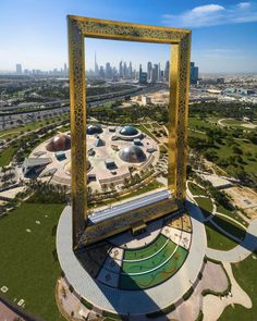 The Dubai Frame. 150 meter tall architectural landmark in Zabeel Park Dubai - Architecture and Urban Living - Modern and Historical Buildings - City Planning - Travel Photography Destinations - Amazing Beautiful Places Dubai Vacation, Dubai Travel, Vacation Spots, Dream Vacations, Dubai City, Dubai Hotel, Dubai Uae, Grand Cadre Photo, Big Picture Frames