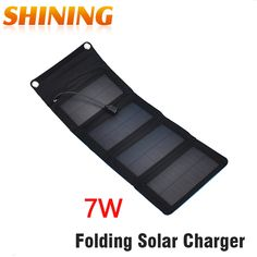 Convenient 7W Portable Folding Solar Charger For Mobile Phone Foldable Solar Panel Battery Charger For Cellphone Mobile Phone