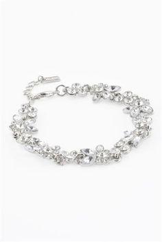 Silver Tone Flower Effect Bracelet