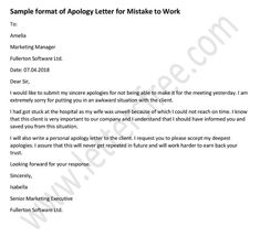 8 best sample apology letters images on pinterest in 2018