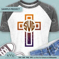 Christian Cross Religious Monogram frame svg - So Fontsy