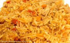 Receta de arroz pilaf o pilaw, este tipo de arroz es tradicional en la India http://www.generacionnatura.org/recetas-cocina-ecologica/nuevas-recetas/receta/643-arroz-pilaf-bio.html