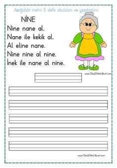 """""""nine"""" Okuma ve Yazma Metni pdf formatında özgün bir çalışma olarak düzenlenmiştir. Çalışmalarımızın hepsini ücretsiz olarak indirip kullanabilirsiniz. İyi Çalışmalar… Tüm çalışmalarımızı kendi emeklerimizle özgün.."""