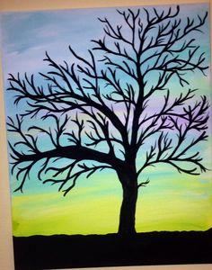 Tree shadow canvas