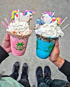 "4,923 Likes, 40 Comments - @foodwithmichel on Instagram: ""Needing milkshakes from @sweetcombforts with @honeyandbutter unicorn macarons to cool me off in…"""