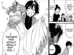 Yato made Hiyori a dress. Noragami Hiyori And Yato, Yatori, Manga English, Skip Beat, Canon, Funny Scenes, Vampire Knight, Blue Exorcist, Book Memes