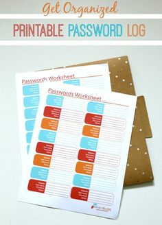 Free Printable Password Log Tracker . Organize your day!
